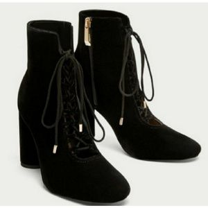 Zara lace up booties